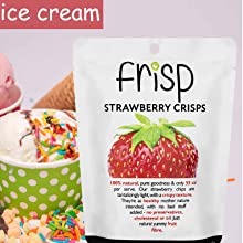 freeze dried strawberries for ice cream