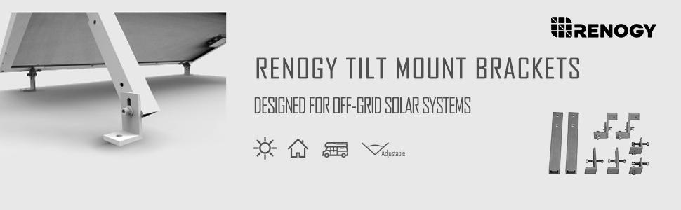 Amazon.com: Renogy Solar Panel Mount Negro soporte de pared ...