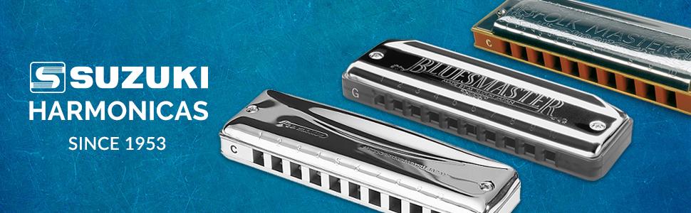 suzuki, harmonica, harmonicas, blues, folk, harp, Diatonic, lee oskar, hohner, boseno, swan, fender