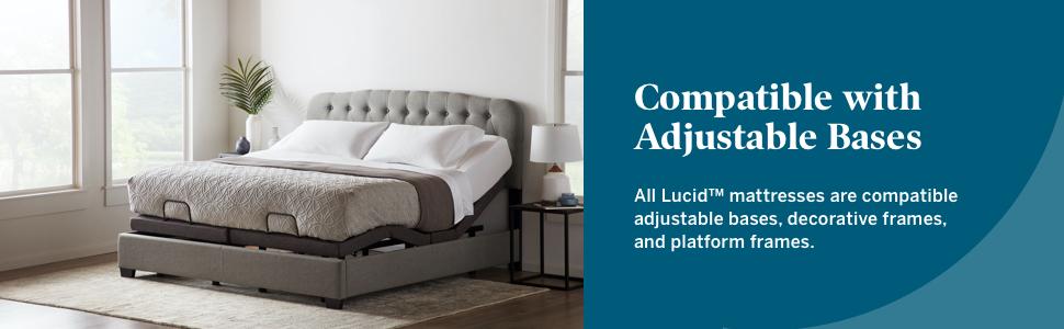 mattress for adjustable base mattress compatible for adjustable bases