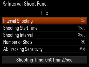 interval shooting