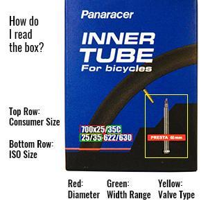 Panaracer Premium 700 x 35//50c Inner Tube 48mm Presta Valve