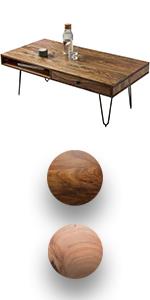 Wohnling Couchtisch Massiv Holz Akazie 115 Cm Breit Wohnzimmer Tisch