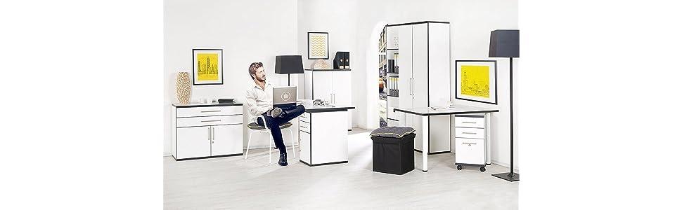 phoenix 616231wes tischplatte chicago passend zur gesamten chicago ihr individuelles b ro serie. Black Bedroom Furniture Sets. Home Design Ideas