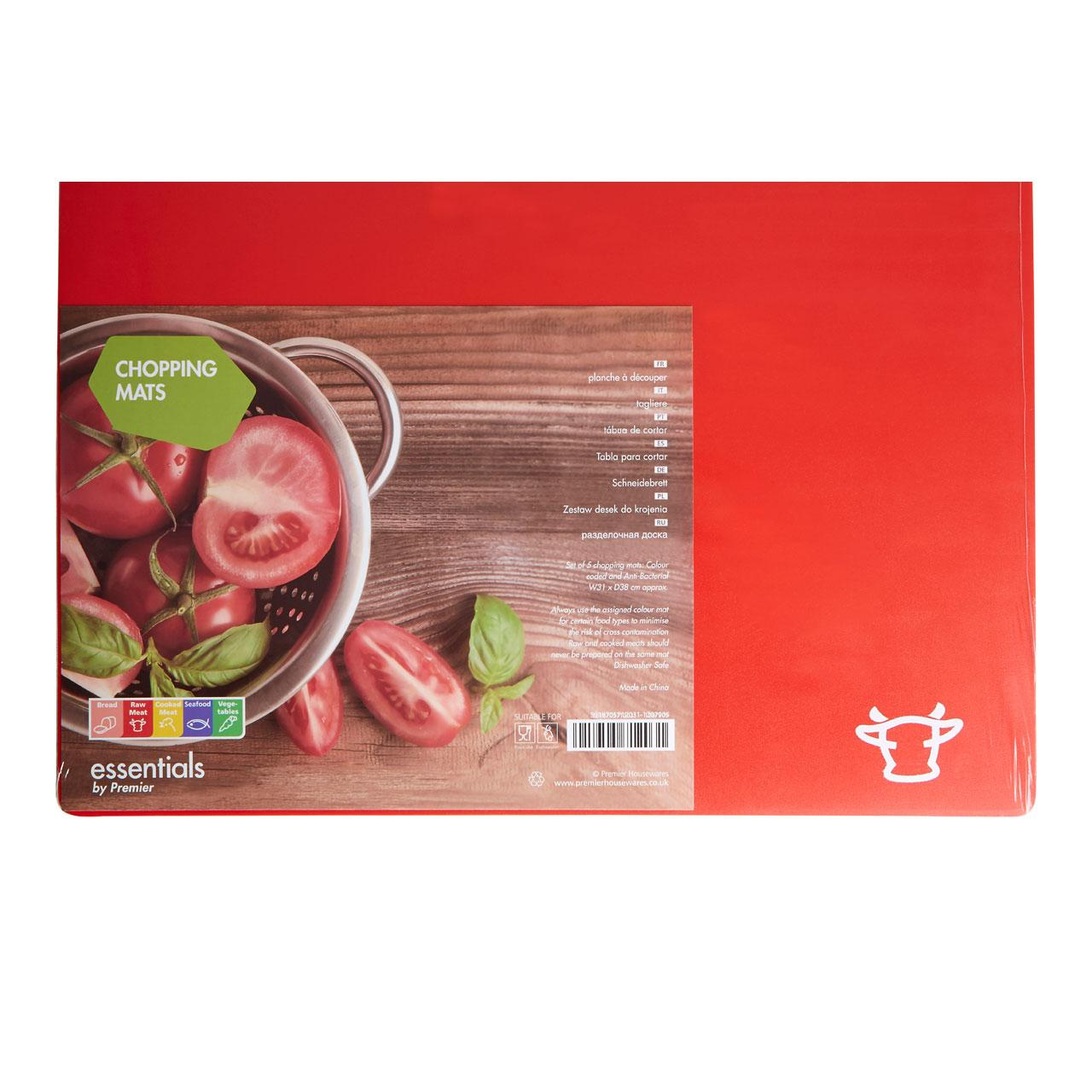The item for sale is premier set of 5 coloured flexible chopping - Chopping Mat