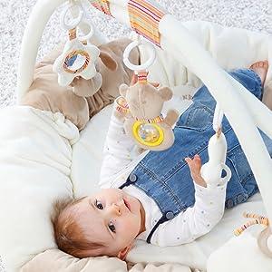 Fehn leksak baby småbarn aktivitetsfilt lekfilt bo lära sig spela 3D pedagogisk leksak