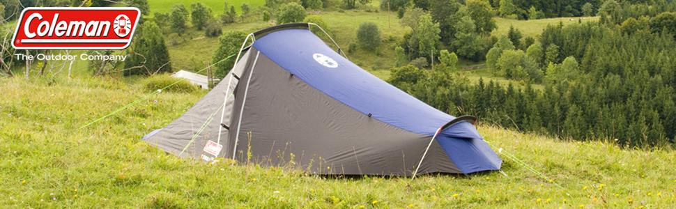 Coleman Cobra 2 Tienda de campaña para Trekking, Camping o Festival, Tamaño pequeño, cabe en una mochila, impermeable HH 3.000 mm, dos personas