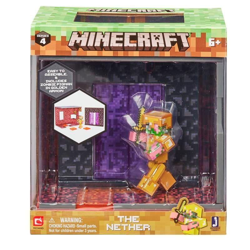 Amazon Com Minecraft Nether Biome Playset Toys Amp Games
