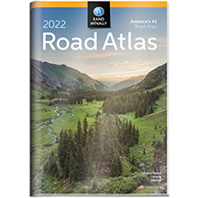 2022 Road Atlas with Protective Vinyl Cover