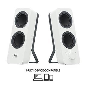 Logitech Z207 Sistema de Altavoce Bluetooth para PC, Sonido Estéreo, 10W de Pico, Entrada Audio 3.5 mm, Toma Auriculares, Multidispositivos, Enchufe EU, Ordenador/TV/Smartphone/Tablet, Blanco: Logitech: Amazon.es: Informática