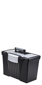 Letter-Legal Portable File Box