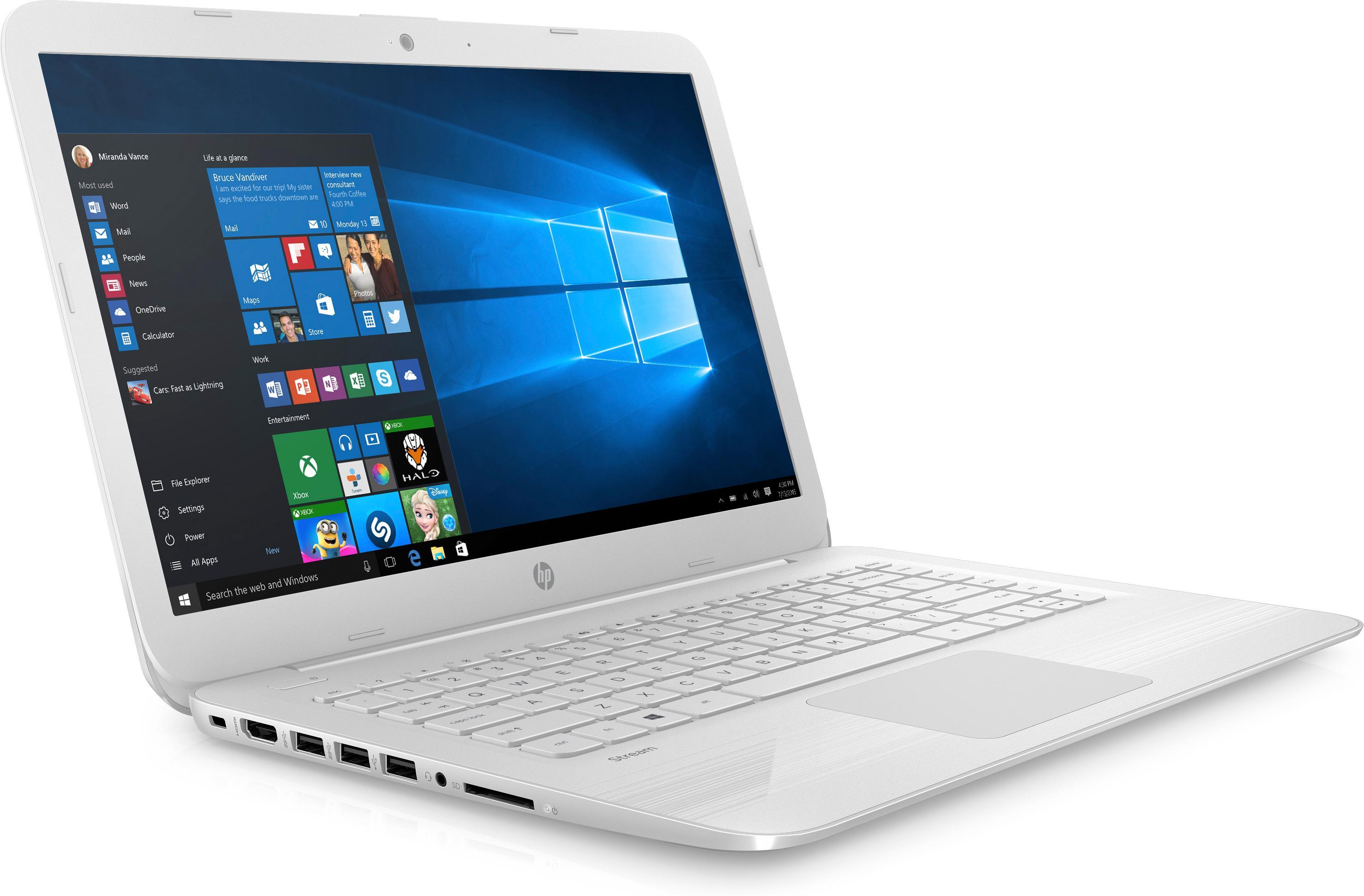 "HP Stream 14-ax018nf Ultrabook 14"" HD Blanc (Intel Celeron"