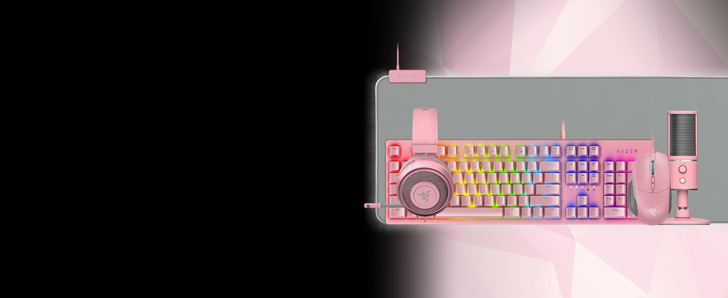Razer Huntsman Quartz, Esports, Gaming, Speed of Light, Pink, Rose