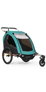 Burley encore x double 2 kids bike trailer stroller