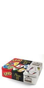 Kartenspiel-Klassiker in Metalldose: UNO, Phase 10 und Snappy Dressers