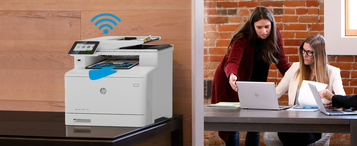 Fast print speeds secure security scan to Wireless Ethernet touchscreen USB front port