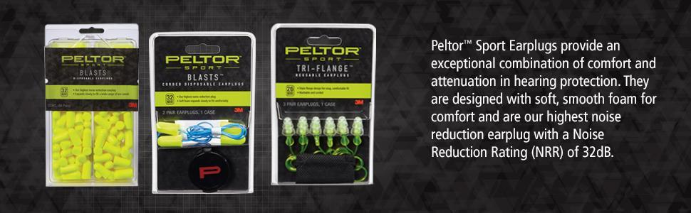 Peltor Sport Earplugs Product Info