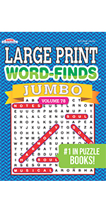 JUMBO Large Print Word-Finds Puzzle Book Word Search
