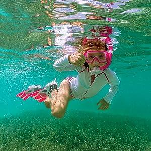 snorkeling set, mask and snorkel set, Combo Set, tusa snorkel set