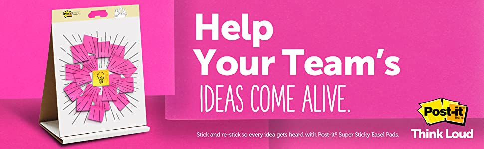 Help your team's ideas come alive with Post-it Notes Think Loud