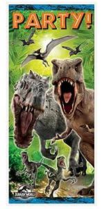 Plastic Jurassic World Tablecloth 84 X 54 Door Poster 60 27 Party Invitations 8ct