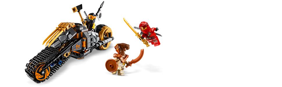 Amazon.com: LEGO NINJAGO Cole's Dirt Bike 70672 Building Kit (212 ...