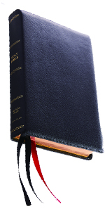 KJV Black Leather Large Print Bible Reference