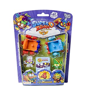 Superzings- Serie 5 - Blister AeroWagon con 4 figuras SuperZings ...