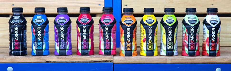Amazon.com : BODYARMOR Sports Drink Sports Beverage, Tropical Punch,  Natural Flavor With Vitamins, Potassium-Packed Electrolytes, No  Preservatives, Perfect For Athletes, 16 Fl Oz (Pack of 12) : Fruit Juices :  Grocery & Gourmet Food