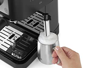 DeLonghi Stilosa Premium EC260.BK - Cafetera de bomba con 15 bares de presión, 1100 W, 1L, color negro y plata: Amazon.es: Hogar