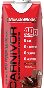 ready to drink carnivore build muscle meat protein chocolate free lactose great taste free bcaa