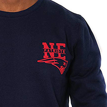 NFL Men's Fleece Sweatshirt Long Sleeve Pullover Reflective Logo