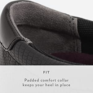 Padded comfort collar keeps your heel in place