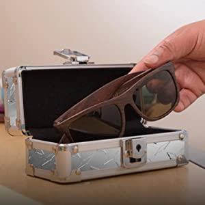 Amazon.com: Vaultz Locking Sports Sunglass Case, Tactical