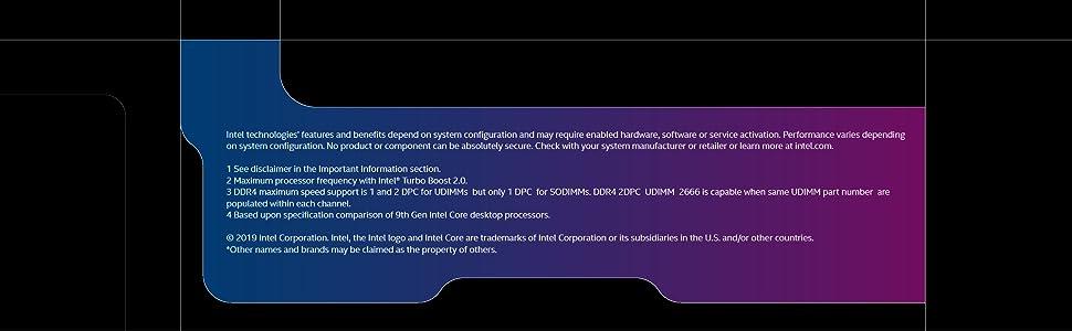 9th gen Intel Core i9-9900K desktop processor