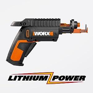 WORX WX255L SD Semi-Automatic Power Screw Driver with Screw Holder 19