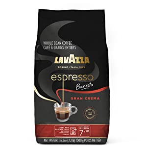 lavazza, espresso, barista, gran, crema, coffee, whole, bean