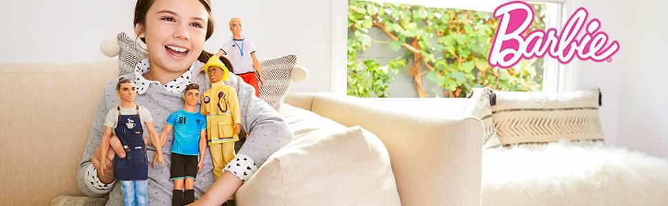 Muñecos Ken con conjuntos profesionales