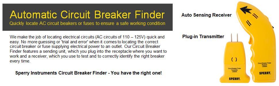 Breaker Finder Circuit Breaker Locator Sperry Circuit Breaker Locator