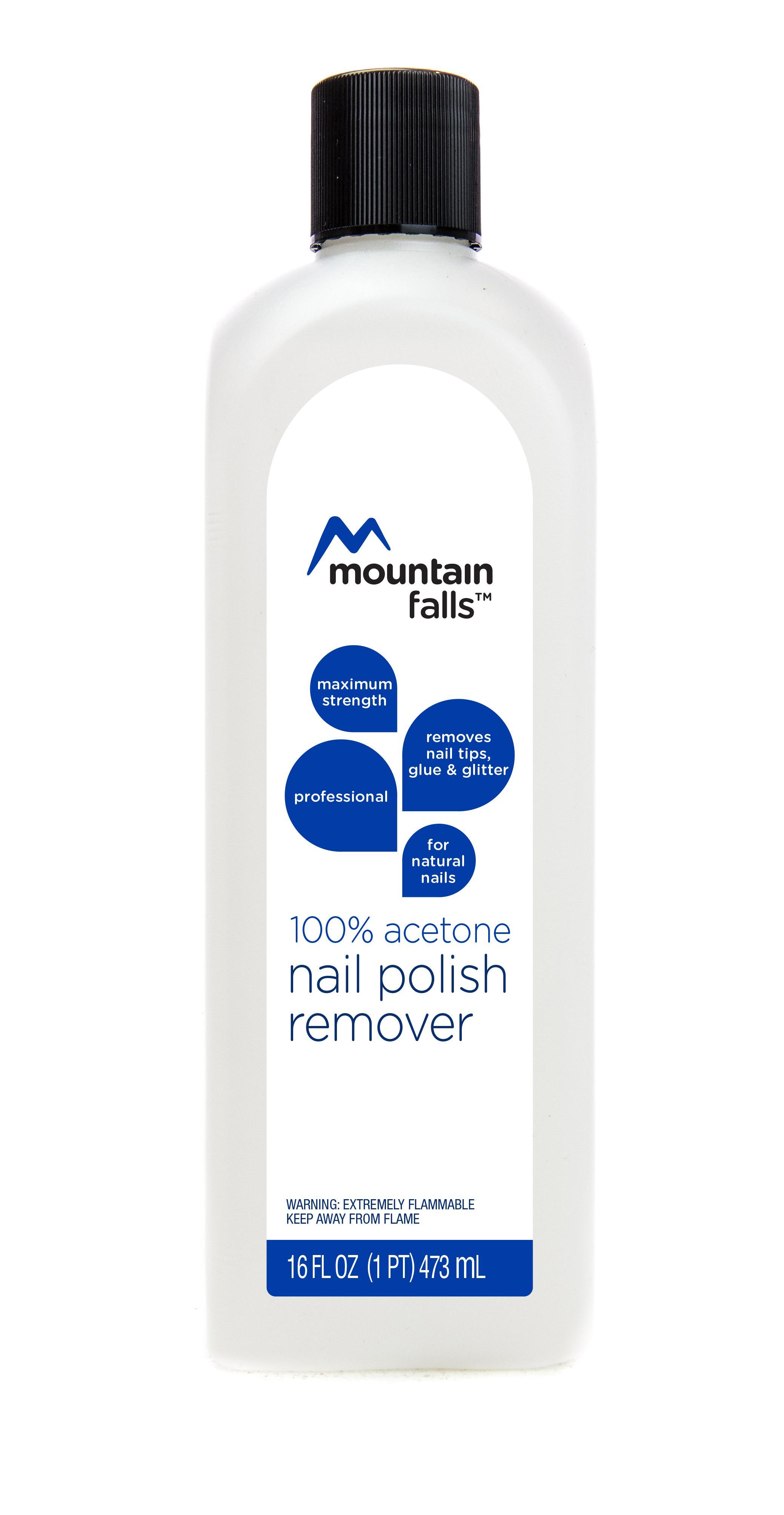 Amazon.com : Mountain Falls 100% Acetone Nail Polish Remover for ...
