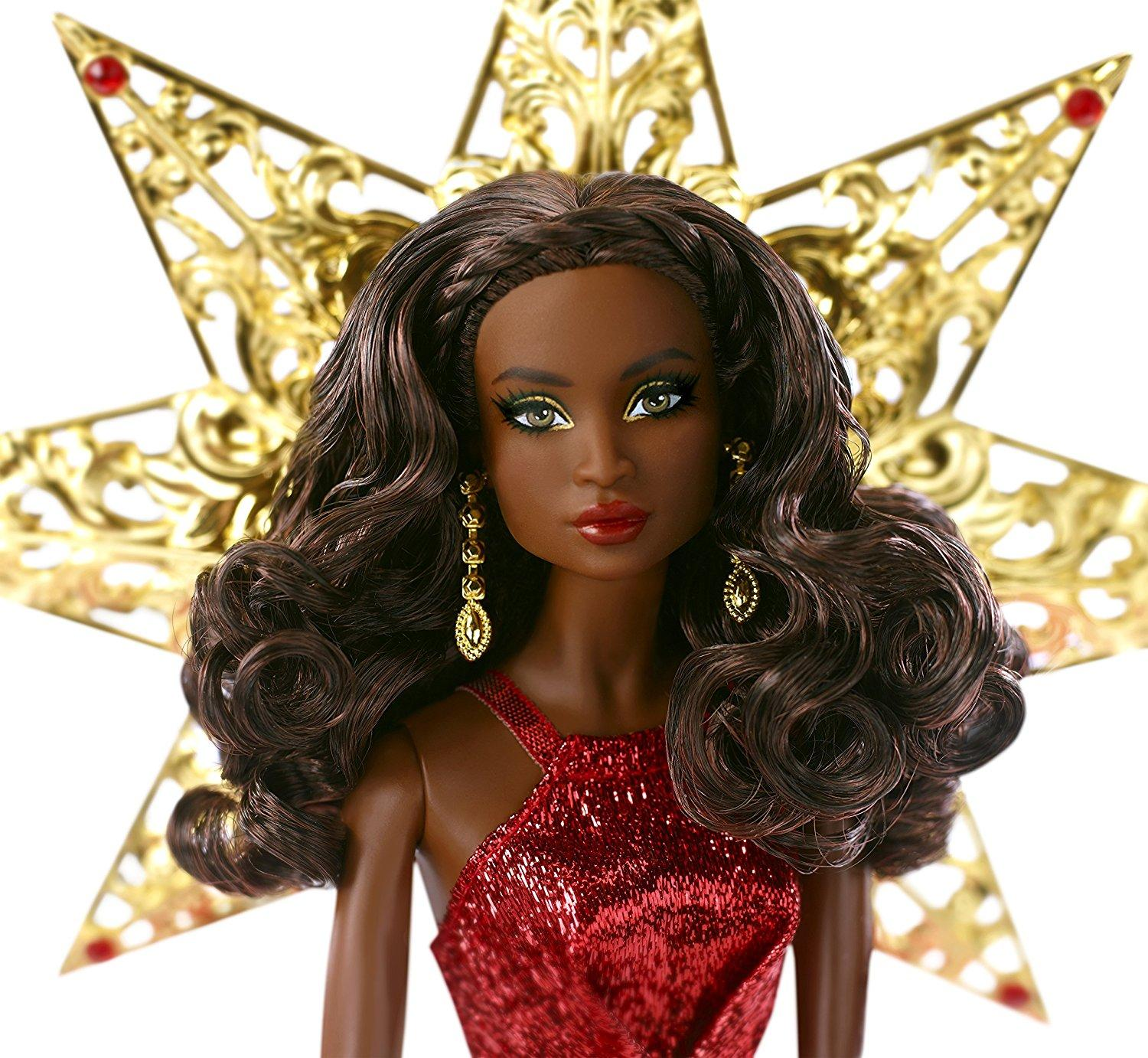 Barbie 2017 Holiday Doll Blonde Hair: Amazon.com: Barbie 2017 Holiday Nikki Black Hair With Red