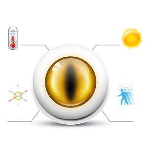 z-wave plus multisensor, temperature, light, motion