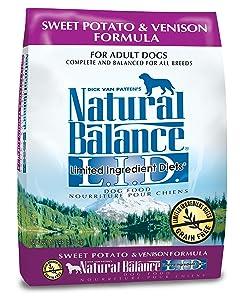 limited ingredient dog food, grain free dog food, venison dog food, sweet potato dog food