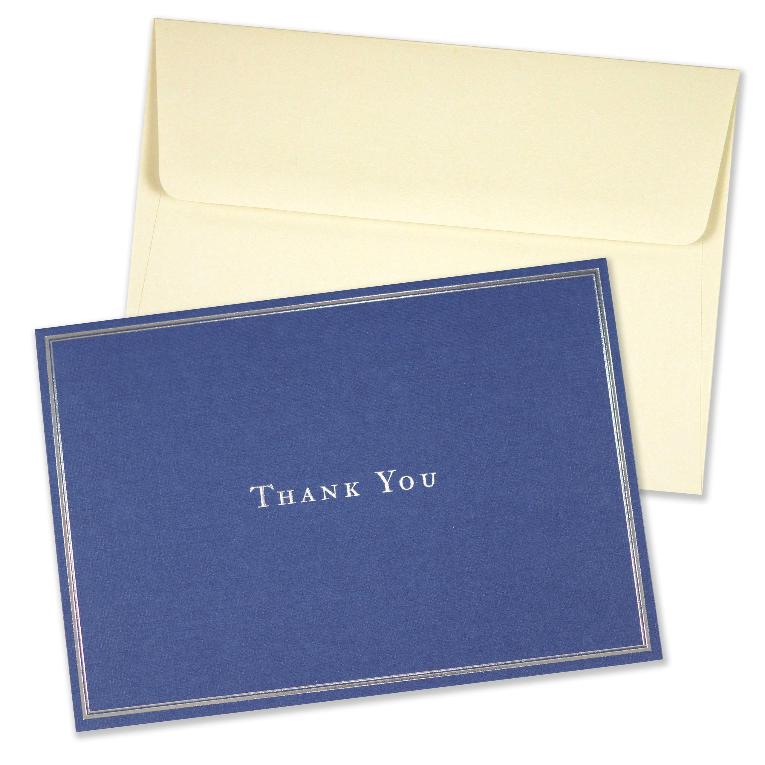 navy blue thank you notes stationery note cards boxed cards