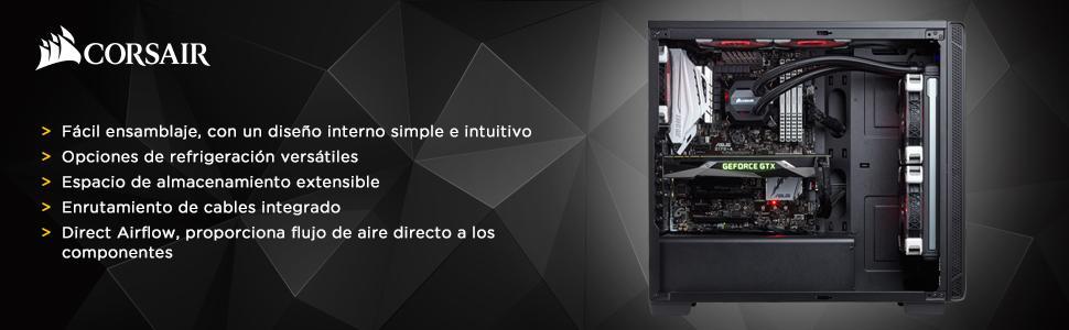 Corsair Carbide 100R Silent Edition - Caja de PC, Mid-Tower ATX ...