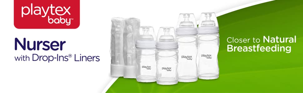Playtex Drop-Ins Liners for Playtex Nurser Bottles 5761 100ct 4oz