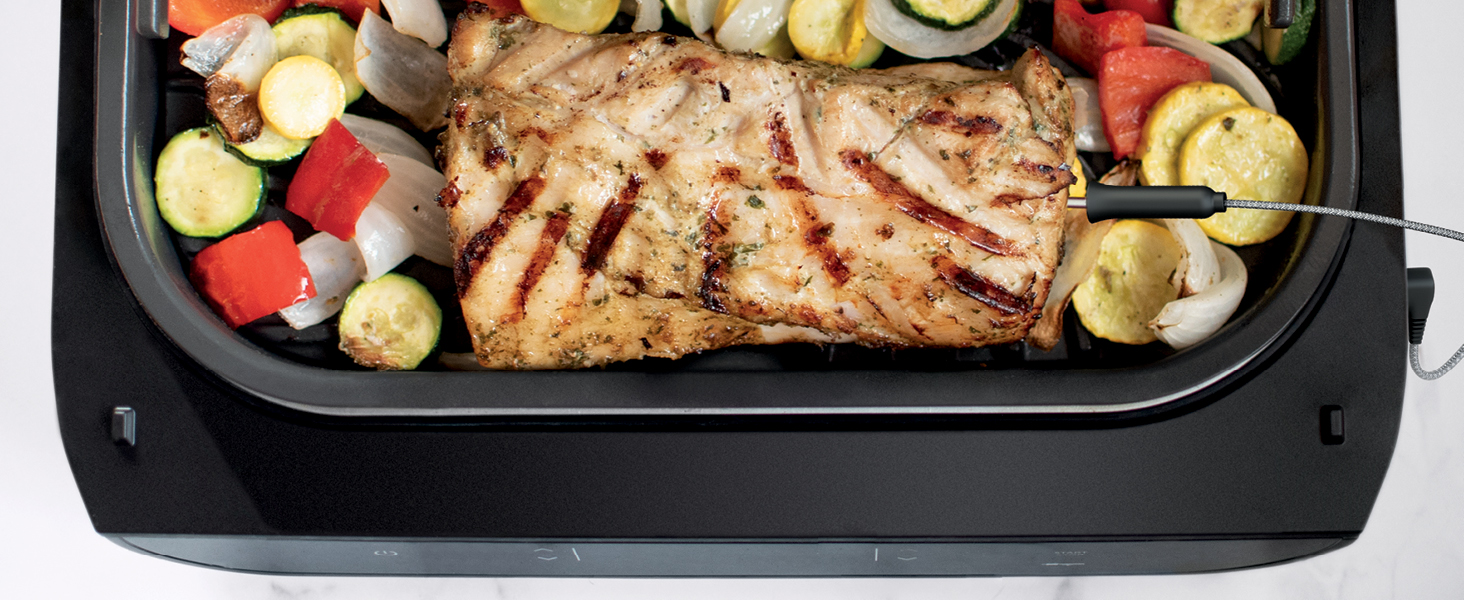 grilled chicken, grilled vegetables, grilled veggies, charred chicken, grilled pork