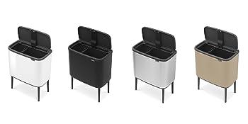 trash cans; kitchen trash cans; kitchen bins; dual compartment kitchen bins; trash cans brabantia
