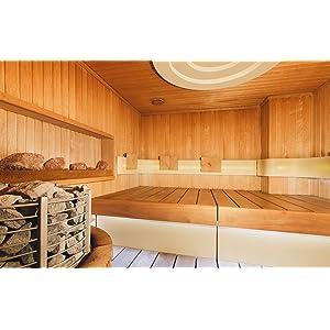 Thermomètre hygromètre analogique pour sauna avec cadre en chêne 40.1051.01