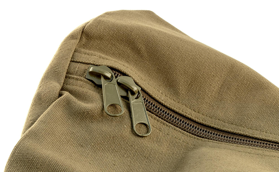 cotton canvas military style duffel bag